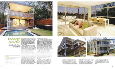 MAY 2010: Ezy Homes in Magazine Feature